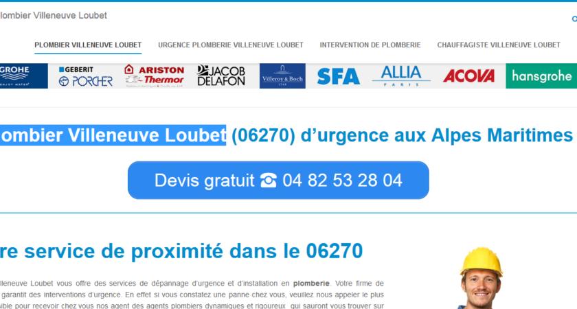 Plombier Villeneuve Loubet