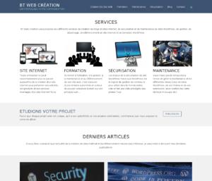 Nouveau site internet de l'agence BT Web Création en 2016