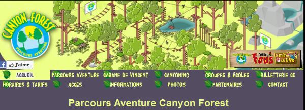 Canyon Forest : Accrobranche à Villeneuve Loubet