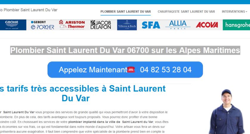 Plombier Saint Laurent Du Var sur les Alpes Maritimes