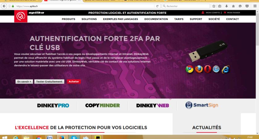 Aplika, protection de licence et création de logiciel