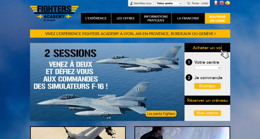 Simulateurs d'avion de chasse