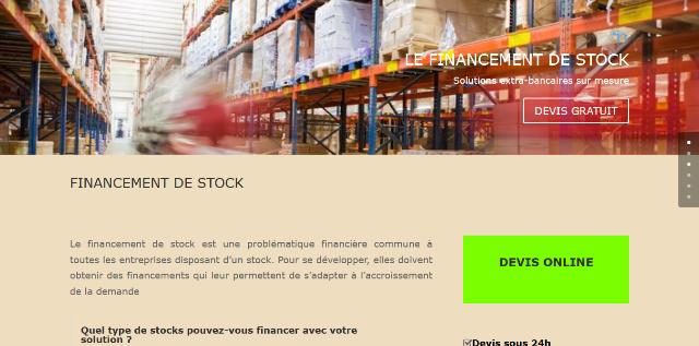 Des solutions sur mesure pour le financement de stock