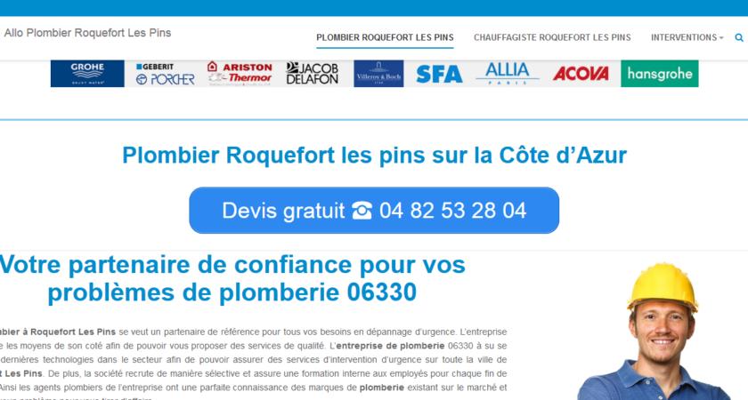 Dépannage de plomberie à Roquefort les Pins