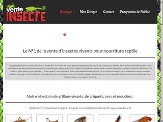 Boutique en ligne de vente d'insectes vivants