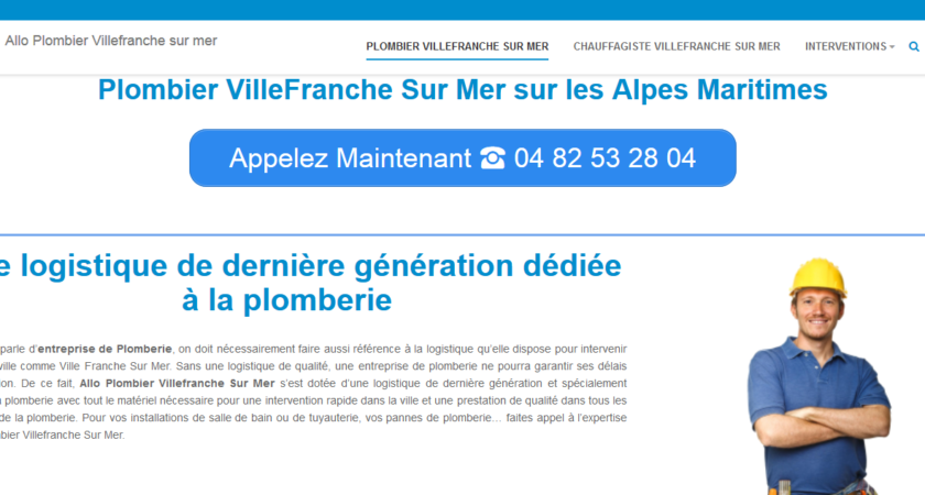 Plombier d'urgence Villefranche sur mer