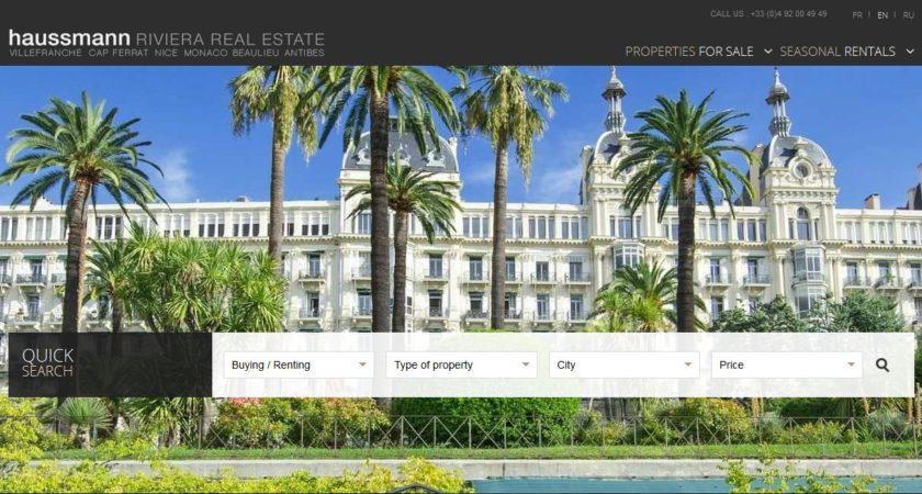 Haussmann, agence immobilière de luxe à Nice