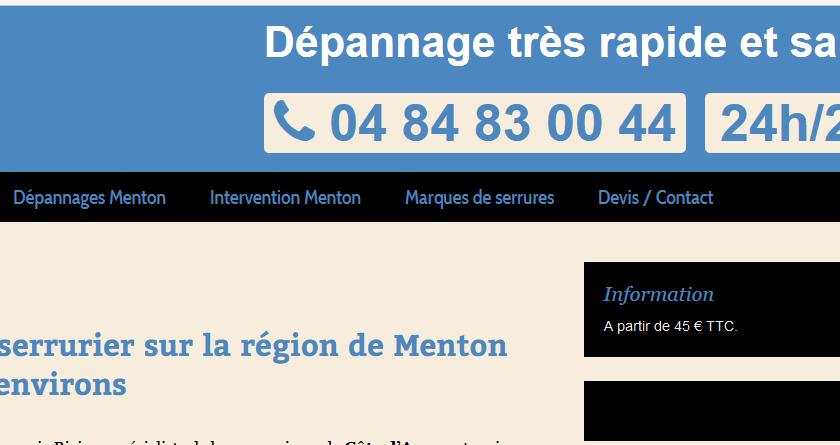 Entreprise de serrurerie à Menton dans les Alpes-Maritimes