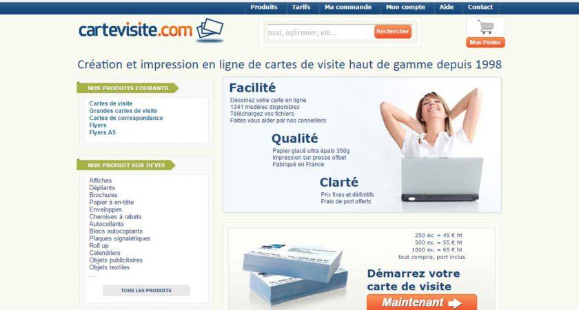 CarteDeVisite.com : Impression de carte de visite professionnelle
