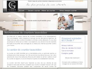 KG Crédit: recrutement de courtiers immobiliers