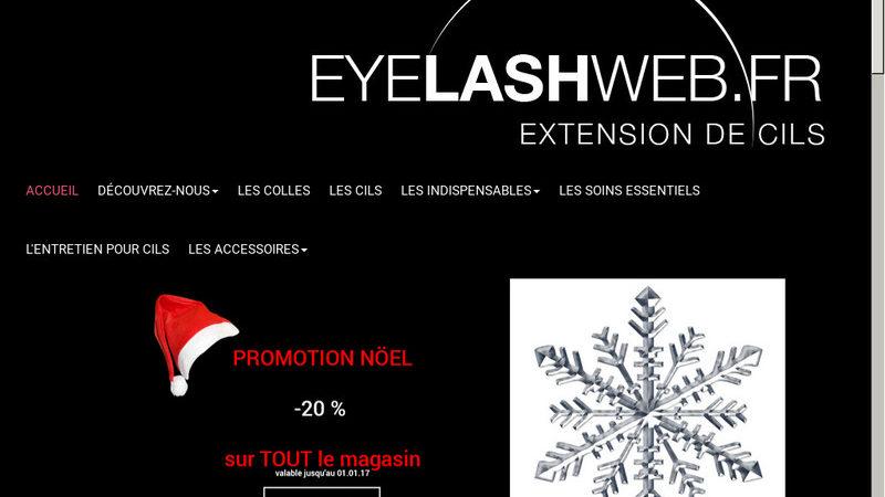 Eyelashweb, vente en ligne de produits d'extension de cils