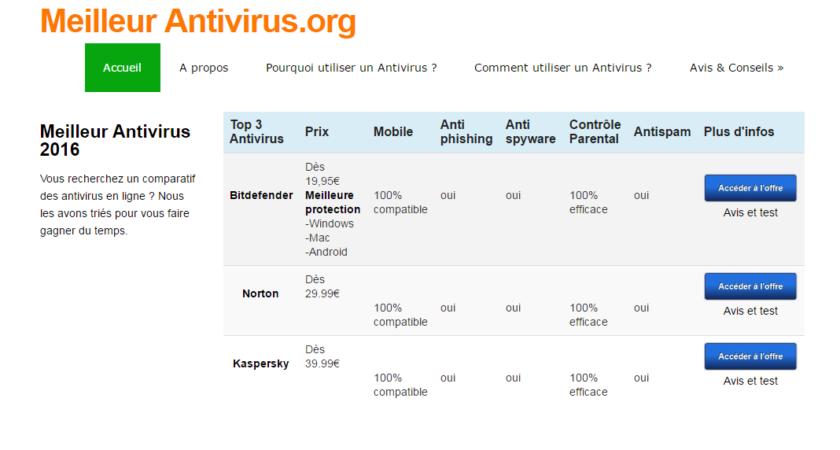Retrouvez le meilleur comparateur d'antivirus en ligne