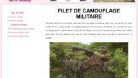 Informations sur le filet de camouflage