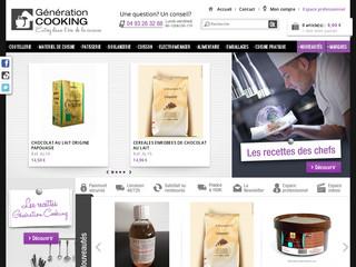 Génération Cooking: vente d'ustensiles de cuisine