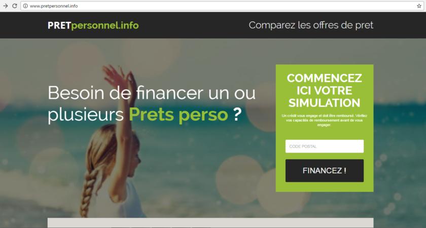 Prêt personnel, demande de crédit personnel en ligne.