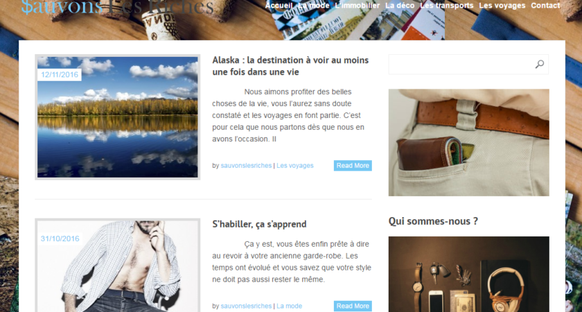 Le blogs des riches