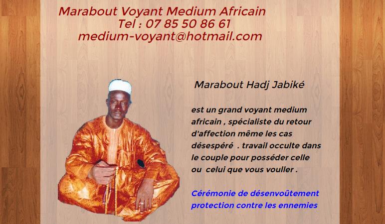 Voyant marabout et médium africain