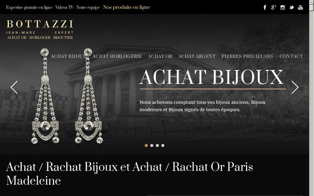 BOTTAZZI, vente et achat de bijoux à Paris.
