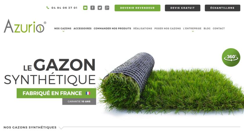 Azurio : fabricant et distributeur de gazons synthétiques