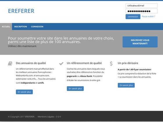 Ereferer: meilleure plateforme de référencement web
