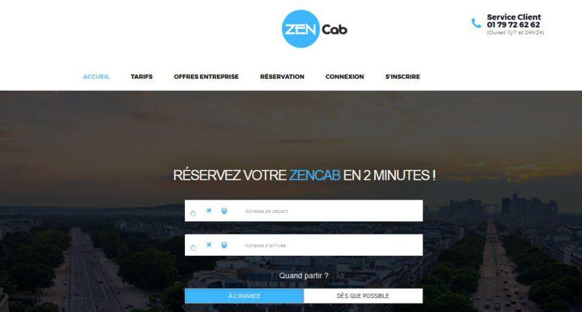 ZenCab, centrale de réservation de taxi scooter