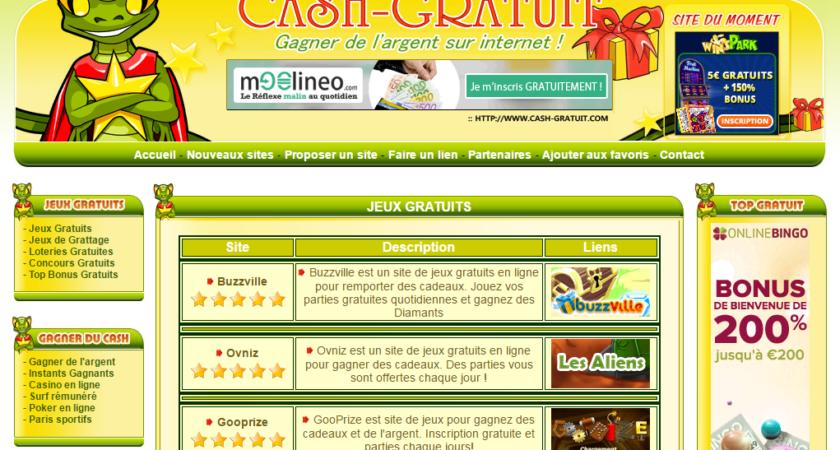 Répertoire des sites de jeux d'argent