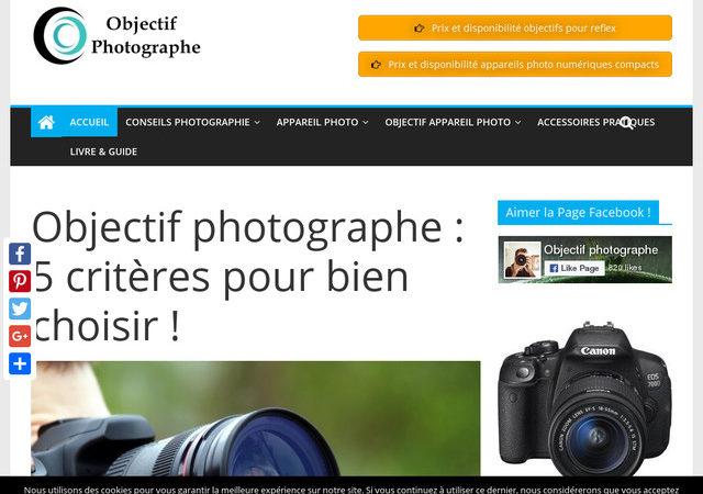 Acquérez facilement votre objectif photographe