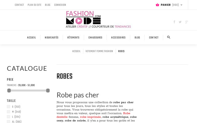 Fashion Mode 45 et ses robes