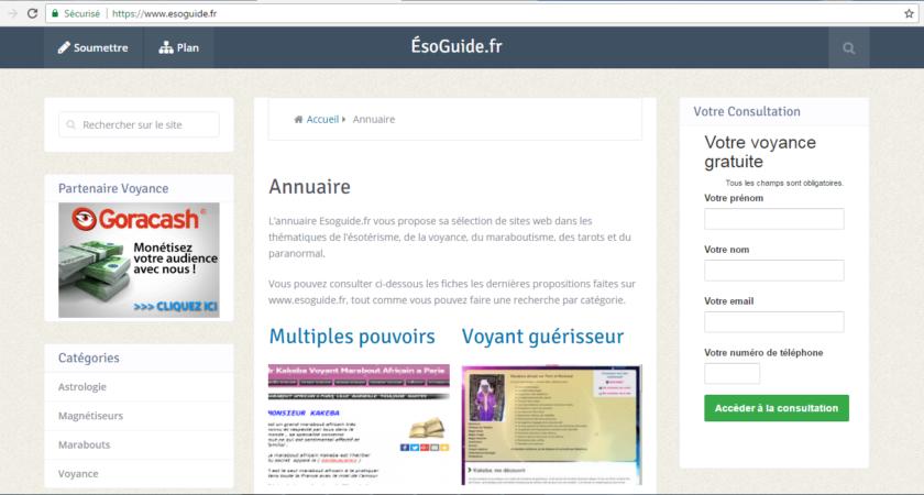 Esoguide.fr, votre annuaire de voyance
