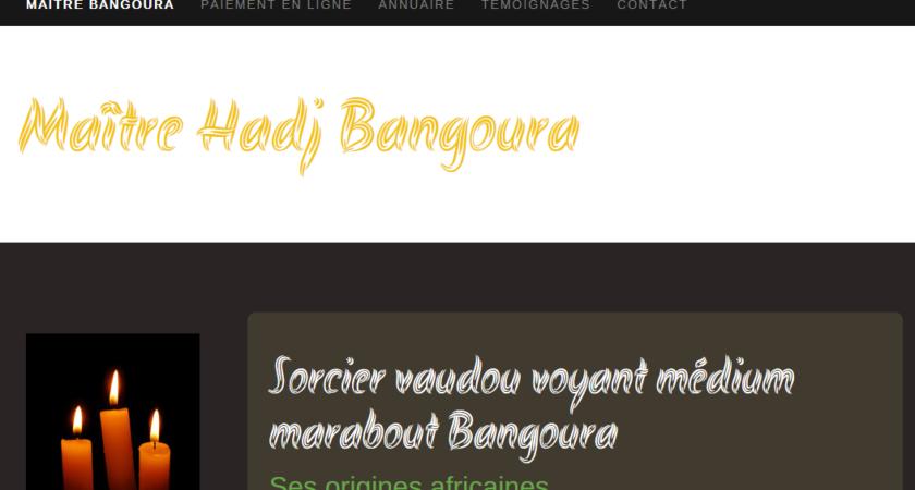 Hadj Bangoura, grand marabout et sorcier vaudou