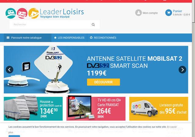 Leader Loisirs, société de vente des accessoires pour les camping-cars