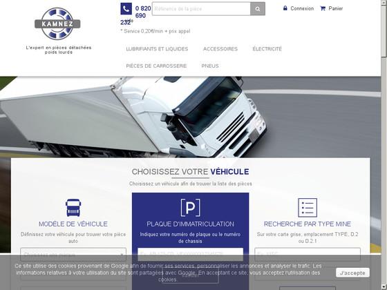Kamnez, vente de pneumatiques et pièces détachées poids lourds