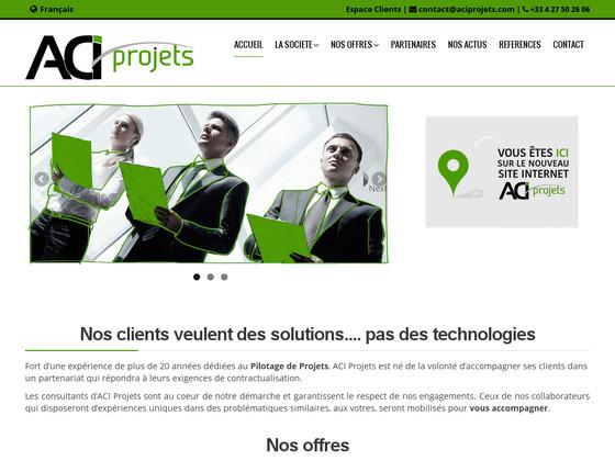 ACI Projets, expert en pilotage de projets