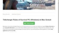 Télécharger le jeu vidéo Rules of Survival
