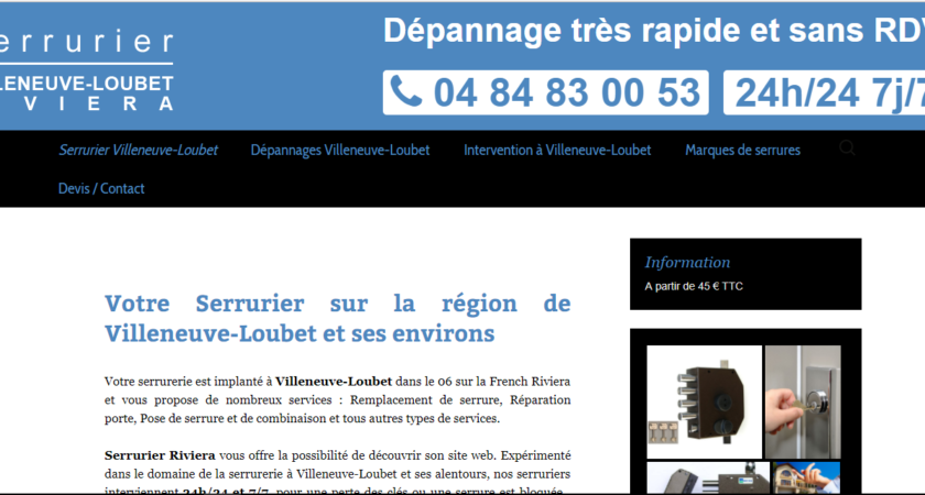 Service de serrurerie à Villeneuve-Loubet