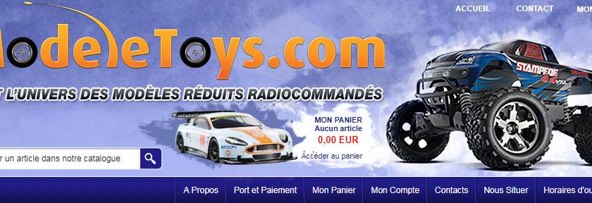 Modeletoys : voitures et hélicoptères radiocommandés