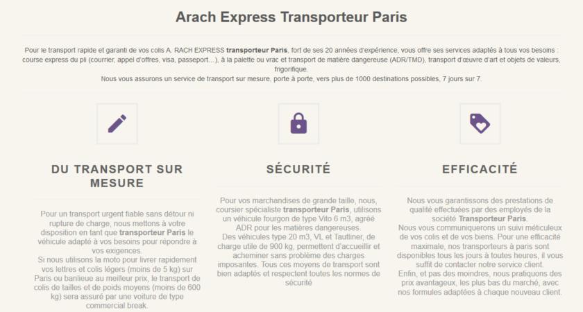 A Rach Express : spécialiste du transport de colis à Paris