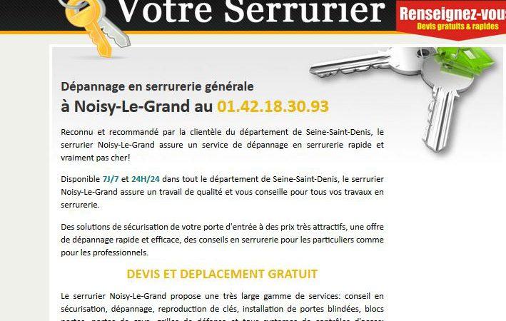 Entreprise professionnelle de serrurerie à Noisy-le-Grand