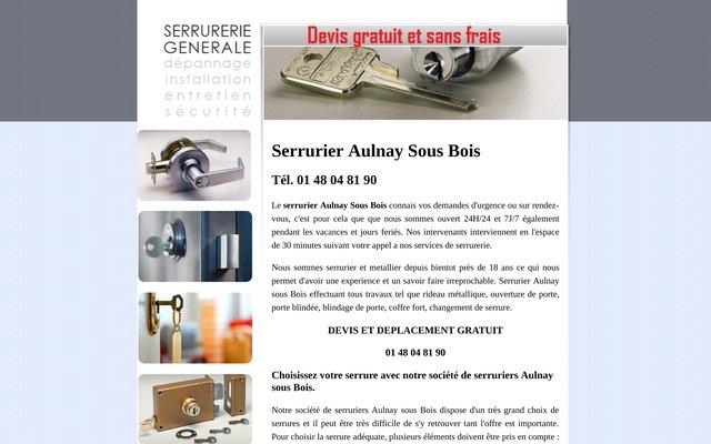 Serrurier à Aulnay-sous-Bois