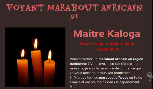 Grand marabout africain dans l'Essonne