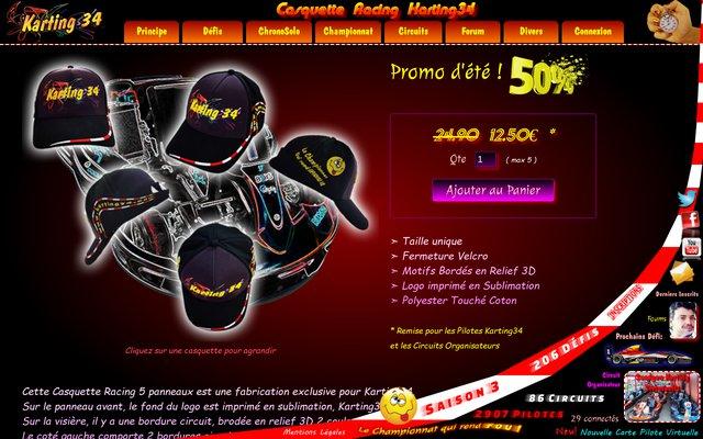 Achetez vos casquettes racing 5