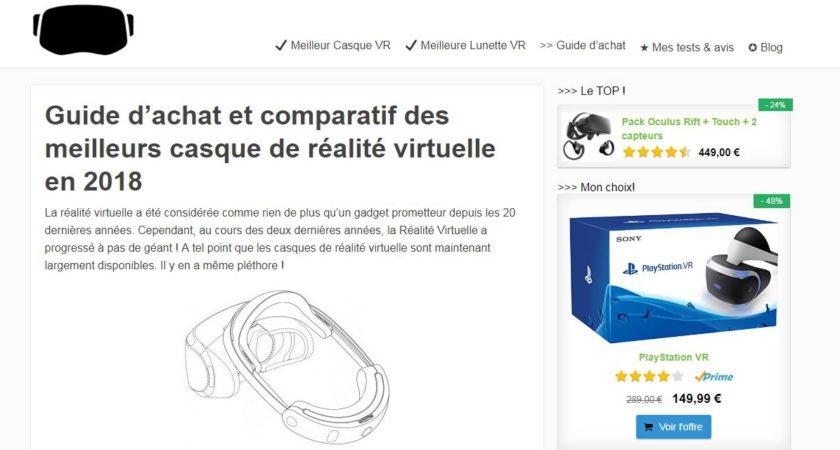 casquederealitevirtuelle.info, blog d'informations pour les amateurs de la réalité virtuelle