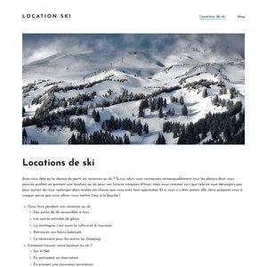 Détails sur les vacances pour ski