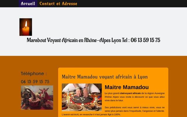 Le marabout Mamadou à votre service