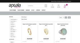 Boutique en ligne pour bijoux de femmes