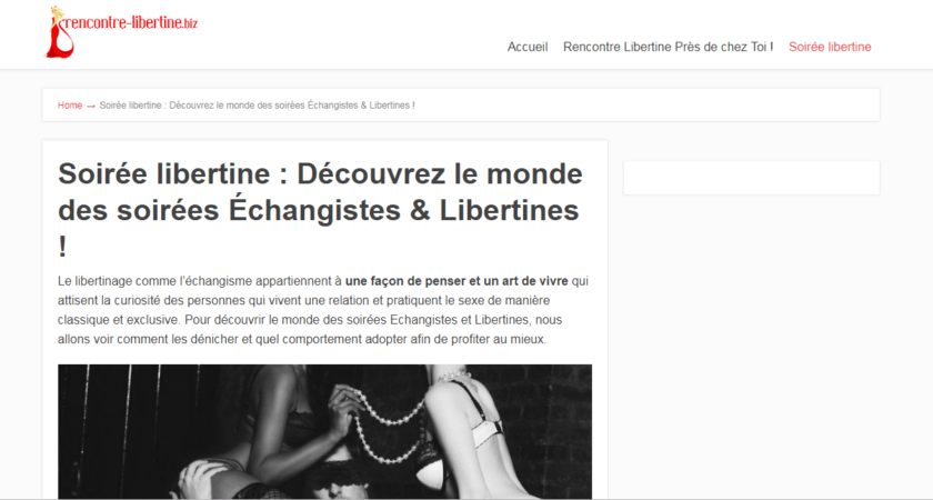 Rencontre Libertine : un comparateur fiable de site de rencontres libertines