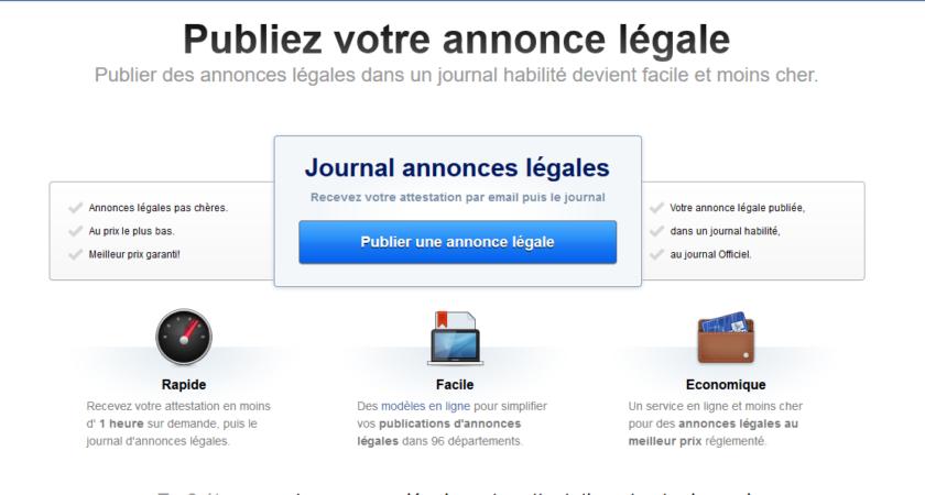 Vos annonces légales avec le site Annonce Légales Faciles