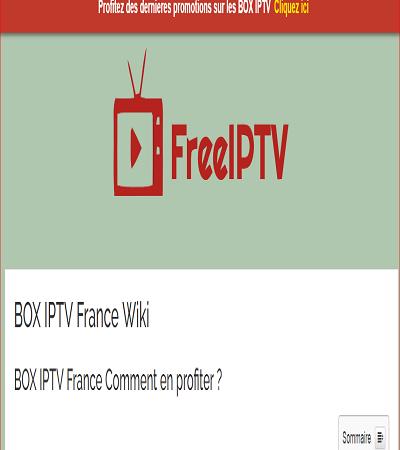 Les détails relatifs au BOX IPTV
