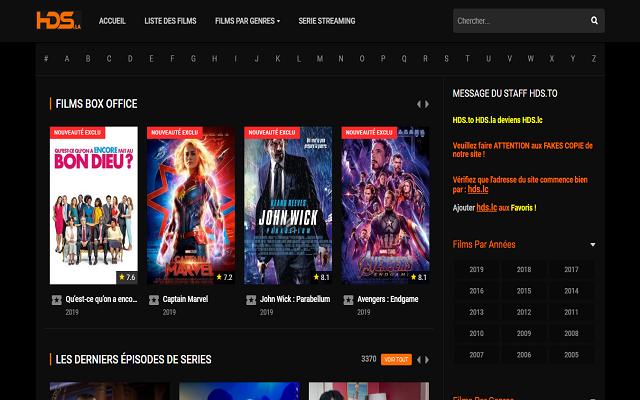 HDS : streaming de films et séries en vf et vostfr