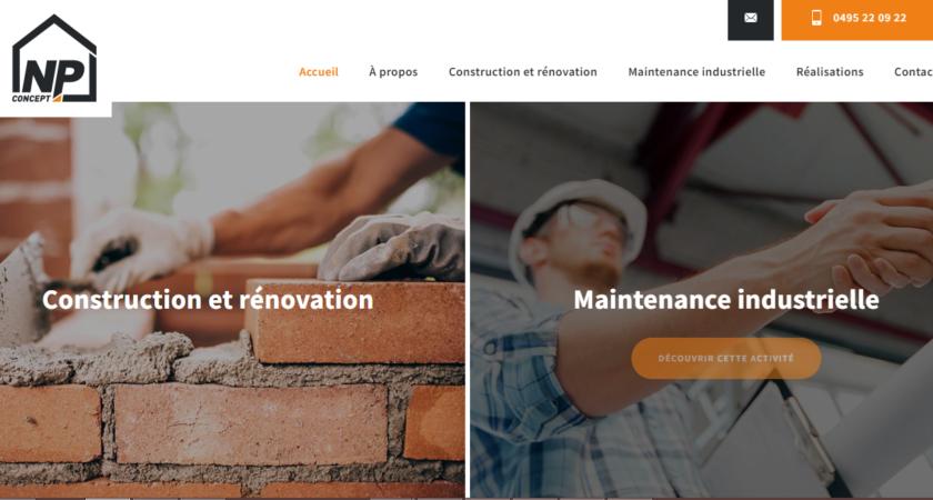 Npconcept.be : Construction, rénovation et maintenance industrielle